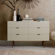 audrey 6 drawer dresser parchment
