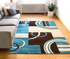 blue brown area rug com echo shapes circles blue brown modern geometric home and turquoise