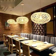 chandeliers chandelier for restaurant pendant light inspirational texture oval shaped wooden lights paper lamp resta