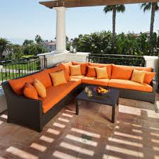 Outdoor Living Room Furniture For Your Patio Rst Brands Deco 6 Piece Patio Sectional Seating Set With Tikka