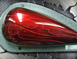 airbrush class on painting automotive flames with automotive custom paint