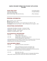 Sample College Resumes Resume Profile Examples For College