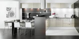 white and black kitchen decor. Delighful Kitchen Spacious Black And White Kitchen Decor Idea With Cabinetry  Dining Table In White And Black Kitchen Decor
