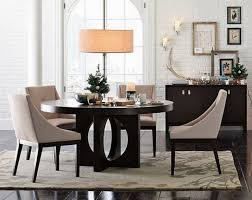 black faux leather tall backrest dining chairs rustic wooden table top dining table modern round white