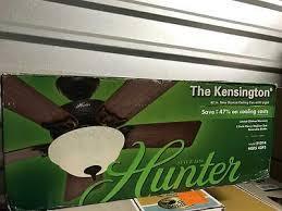 hunter kensington 42 in indoor new bronze ceiling fan 51014