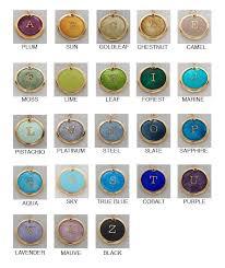 Gold Karat Color Chart Gold Z Enamelled Initial Custom Z Initial Necklace 24k