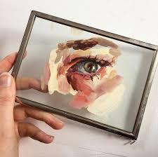 acrylics painting on glasslove