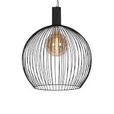 modern round pendant lamp 60cm black
