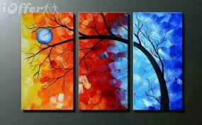 wall art tree oil painting on canvas