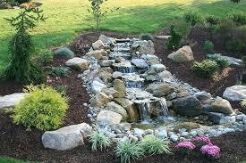 yard pond ideas breathtaking backyard outdoor waterfall small