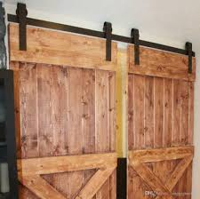 Decorating rustic sliding barn door hardware photographs : 2018 10ft New Double Wood Sliding Barn Door Hardware Rustic Black ...
