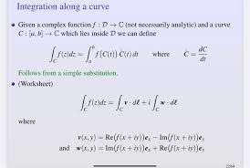 Decompose the second integral into two others. Integration Along A Curve Given A Complex Functi Chegg Com