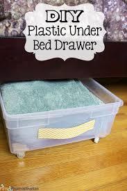 Under Bed Storage: DIY Plastic Underbed Drawers