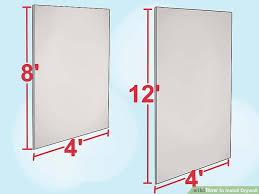 how to hang sheet rock how to install drywall with pictures wikihow