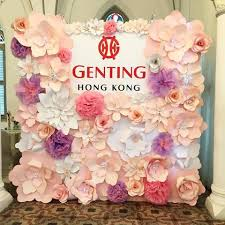 Paper Flower Backdrop Rental Paper Flower Backdrops For The Wedding Singapore