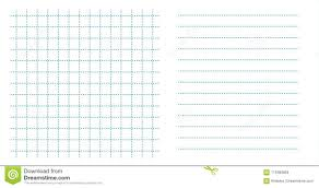 Dotted Line Template Set Square Grid Small Notebook Sheet Paper Art Blue Color In Dotted