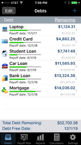 Online Debt Reduction Calculator Debt Payoff Assistant On The App Store