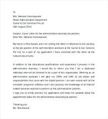 Sample Office Assistant Cover Letter Administrative Assistant Cover