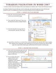 Word 2007 Pagination Guide