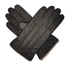 denham men s cashmere lined leather touchscreen gloves