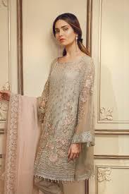 Pakistani Dress Designs Pictures Pakistani Designer Dress Chiffon By Chantell Jasmine In Gray