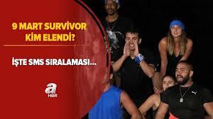 Buna göre survivor sms sıralamasında en altta olan fulya şahin elendi. Survivor Kim Elendi 9 Mart Survivor Da Elenen Isim Kim Oldu Iste Sms Siralamasi