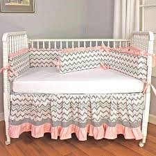 pink and grey chevron baby bedding crib set zoom a hot gray