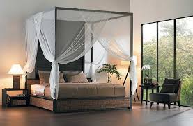 Wood King Size Canopy Bed Frame