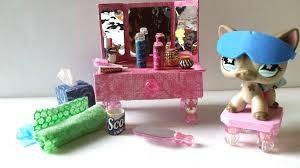 Dog Bathroom Accessories How To Make An Lps Vanity And Bathroom Accessories Doll Diy Youtube