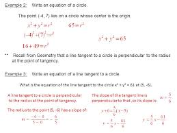 example 2 write an equation of a circle
