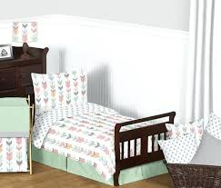full image for grey c mint woodland arrow girls toddler bedding set sweet designs ladybug bed