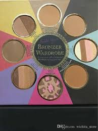 too faced bronzer palette. 2017 too faced new the little black book of bronzers palette bronzer wardrobe blush cheek highlighter cosmestics makeup online sets from d