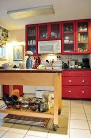 Deidreu0027s Bold Red Kitchen Cabinets