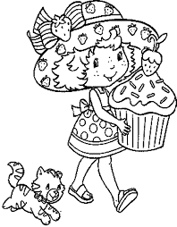Small Picture free color pages Strawberry shortcake coloring page of giant