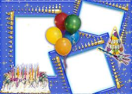 birthday collage frame transpa