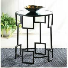 round side table mirror top night stand