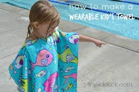 How to Make Wearable Beach Towels for Kids