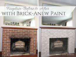 Gray Brick Fireplace Fireplace Makeover Part 1 Painting A Brick Fireplace With Brick