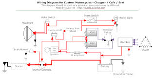 simple motorcycle wiring diagram for choppers and cafe racers Cafe Racer CX500 Wiring-Diagram simple motorcycle wiring diagram for choppers and cafe racers