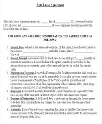 Vehicle Lease Agreement Sample Auto Lease Agreement Template Car Lease Agreement Template Motor