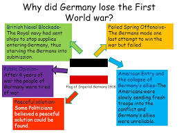 gcse history course outline course overview  10 why did lose the first world war