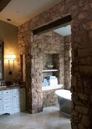 rustic stone bathroom designs. stone bathroom designs stainless steel sliding shower door blue glass bowl on vanity rustic elegance soaking