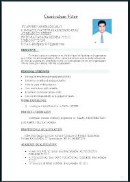 Resume Format Template For Word
