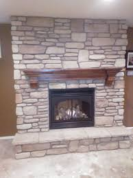 Cool Stone Veneer Gas Fireplace Photo Decoration Ideas ...