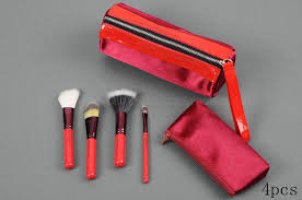 4 pcs mac brush set red brush holder stud mac por ping where can i mac makeup premium selection