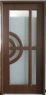 glass inserted wood panel partition room interior door