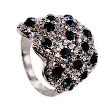 china fashionable 925 sterling silver with rhinestone crystal jewelry whole china rings for women