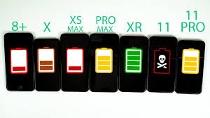 Difference Between Iphone 8 And X Chart Iphone 11 Vs Iphone 11 Pro Vs Pro Max Vs Xr Vs Xs Max Vs X Vs 8 Plus Battery Life Drain Test