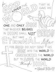 John 3 16 Coloring Page 986 John 3 Coloring Sheet Page Ideas Or For