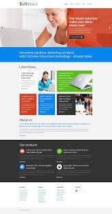 web template design software. Software Company Responsive Website Template 51277